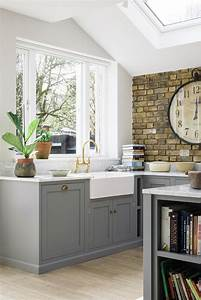 25 best ideas about brick wall kitchen on pinterest With kitchen colors with white cabinets with wall art of new york city