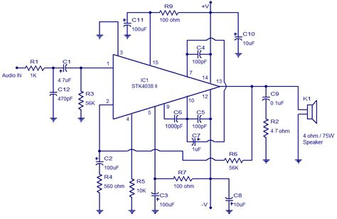watt amplifier circuitcircuit diagram world