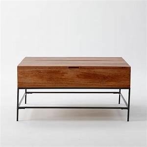 industrial storage coffee table west elm With industrial storage coffee table west elm
