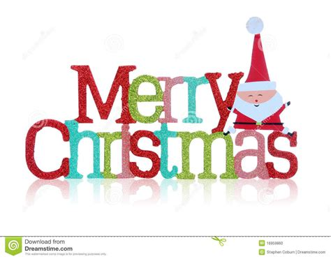 colorful merry christmas sign over white background