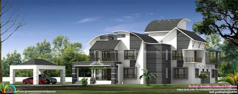 ultra modern contemporary style luxury home kerala home design  floor plans