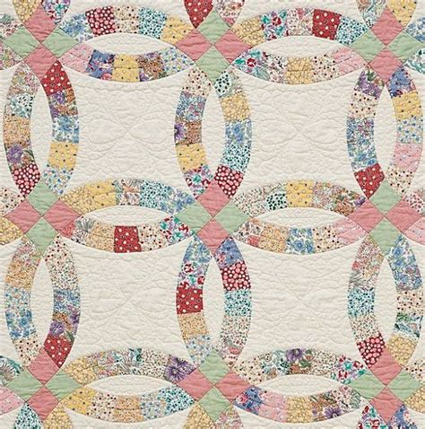 double wedding ring precut quilt kit 1930 s by thefoxandthefable 65 00 weddings pinterest
