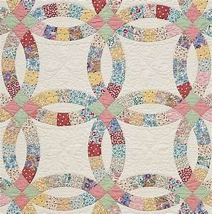 double wedding ring precut quilt kit 193039s by With wedding ring pattern quilt
