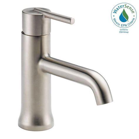 home depot bathroom faucet delta trinsic single single handle bathroom faucet in