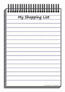 Shopping list writing frame (SB3722) - SparkleBox