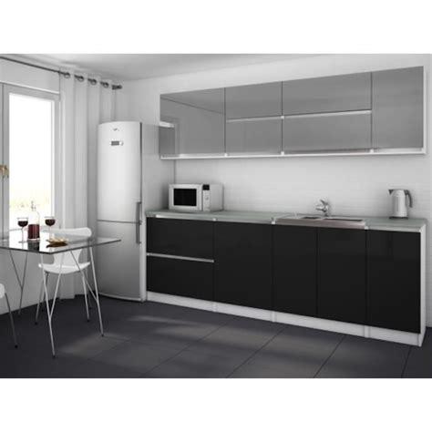 moderna cuisine moderna gris noir cuisine complète 260 cm achat