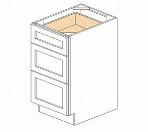 Db183 ice white shaker drawer base cabinet base for Kitchen colors with white cabinets with wwf bumper sticker