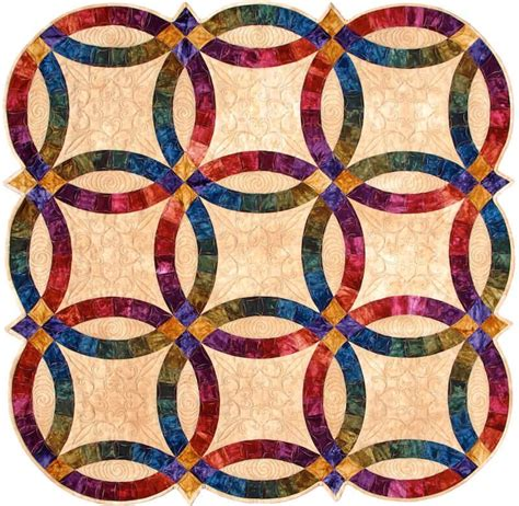 wedding ring acrylic quilt template by quilting from the heartland