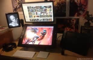 desk for digital artist workstation by el grimlock on deviantart