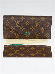 louis vuitton green monogram canvas josephine wallet yoogis closet