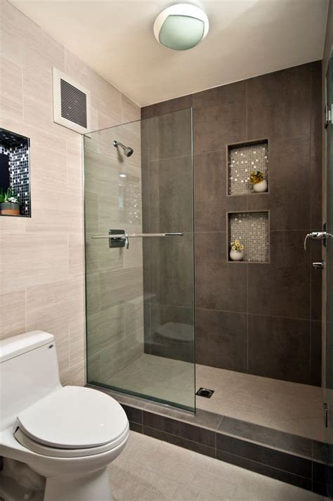 modern master bathroom with recessed shower niche by yana mlynash zillow digs