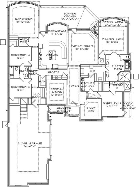 4 bedroom house plans with basement house plan 9036 00053 ranch plan 3 725 square 4