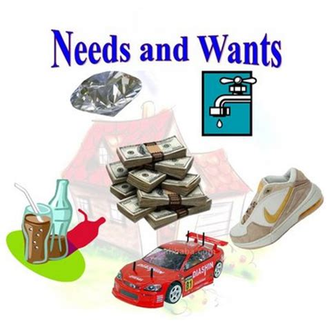 Needs And Wants  All About Economics