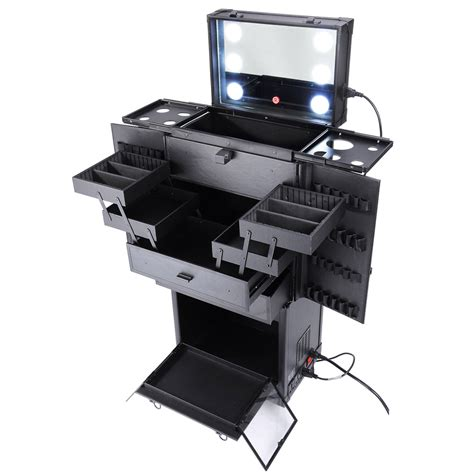 rolling makeup with lights rolling studio makeup multifunction w lights mirror