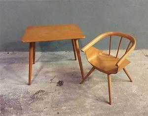 Chaise Bureau Vintage : ensemble bureau et chaise enfant baumann ~ Teatrodelosmanantiales.com Idées de Décoration