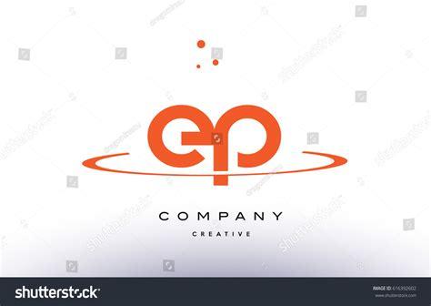 Ep E P Creative Orange Swoosh Stock Vector 616392602