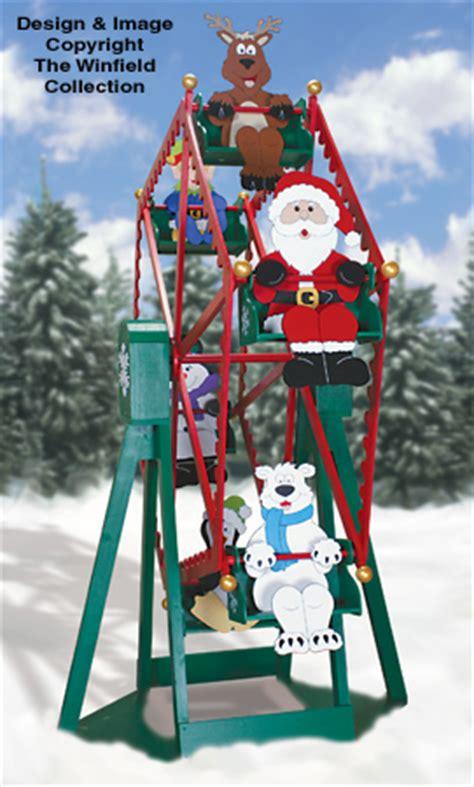 santa elves christmas ferris wheel  riders plan set