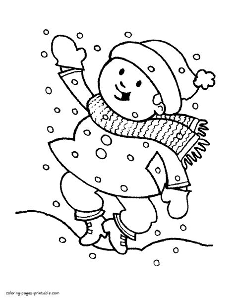 colouring pages winter season coloring pages printablecom