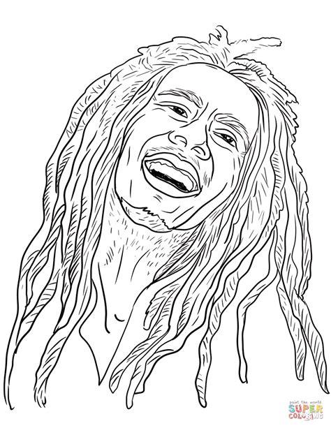 Bob Kleurplaat bob marley coloring page free printable coloring pages