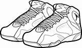 Coloring Jordan Shoes Pages Shoe Nike Air Printable Drawing Lebron Michael Bordeaux Sneakers Sheet Drawings Template Running Basketball Draw Clipartmag sketch template