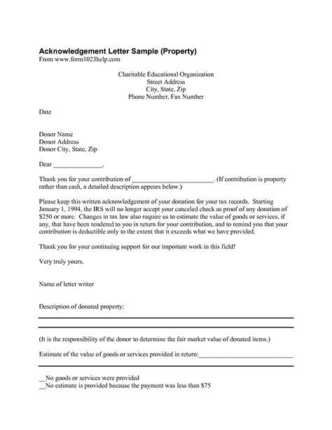 image result  donation letter format examples grand