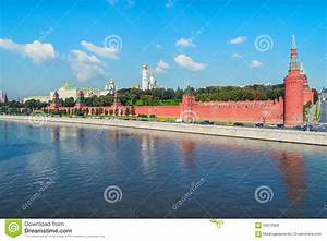 Moscow Kremlin During The Day In Russia Stock Photo ...