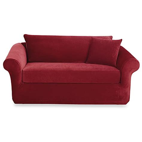 3 Slipcover For Loveseat by Sure Fit 174 Stretch Sterling 3 Sofa Slipcover Bed