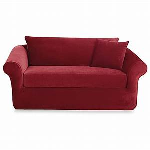 Sure fitr stretch sterling 3 piece sofa slipcover bed for 3 piece sectional sofa bed