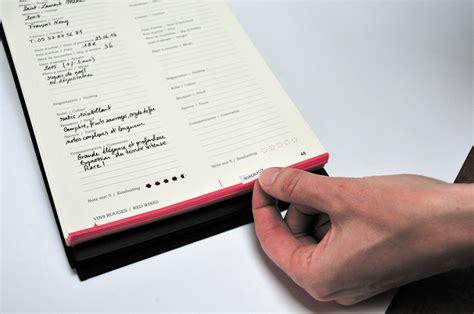 elastique bureau carnet livre de cave méthode de dégustation noir