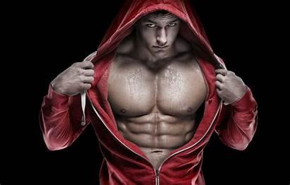 Bodybuilder Bodybuilding Muscle Abs Muscles Hood Press
