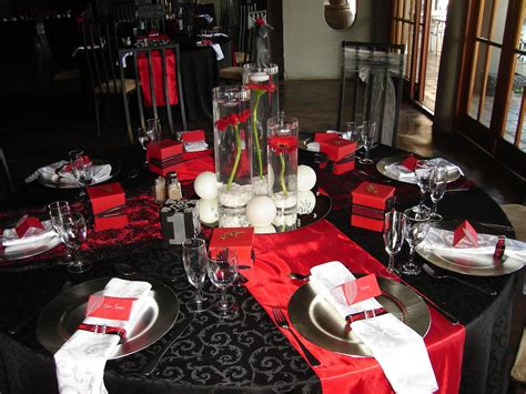 black red silver wedding black red white silver