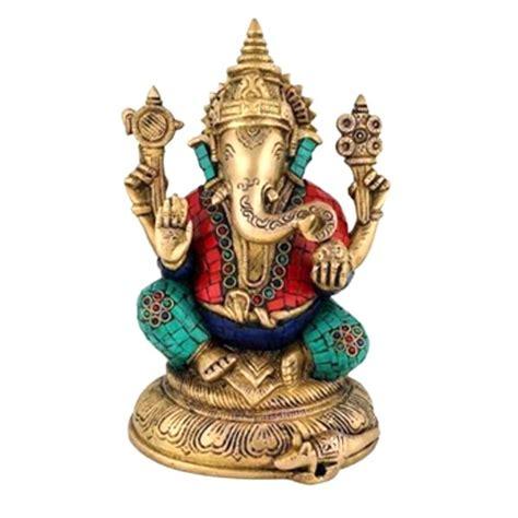 Sitting Ganesha Brass Statue