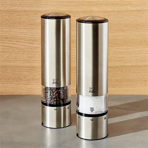 Peugeot Electric Pepper Mill by Peugeot Elis Electric Salt And Pepper Grinder Crate And