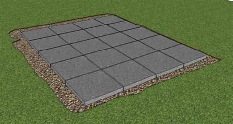 How To Lay Base For Shed by How To Build A Storage Shed Foundation On Paving Slabs