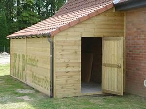 Garage Bois Toit Une Pente Myqto