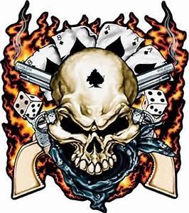 native skull red eyes guns - Google Search | Cool skulls ...