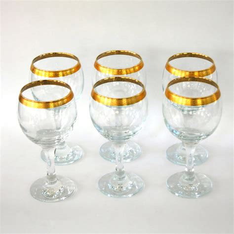 nice gold rimmed wine glasses  vintage style homesfeed