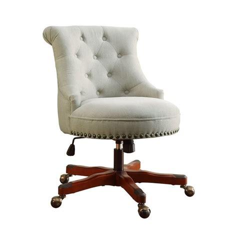Armless Upholstered Office Chair In Dark Walnut 178403nat01u