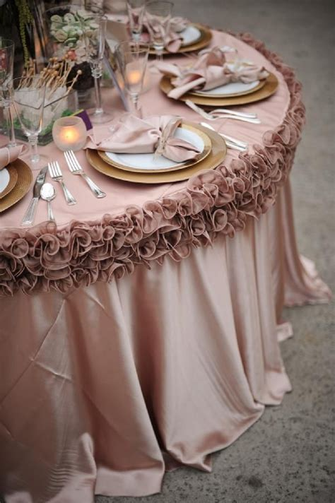 wedding party reception table linens wedding decor
