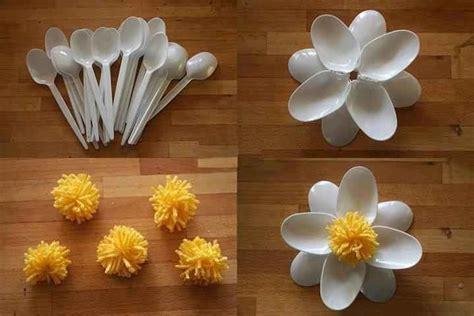 flores con cucharas de pl 193 stico actividades infantil