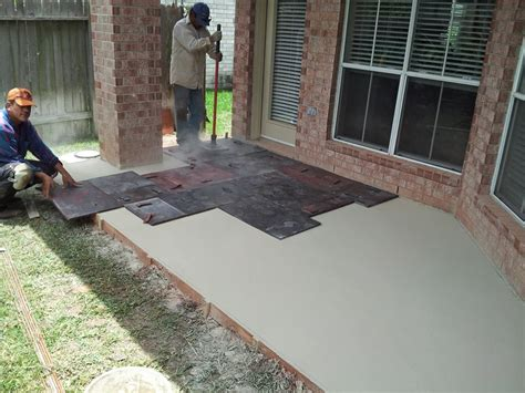 how to st concrete patio