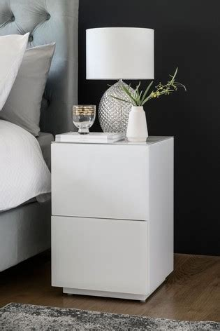 Buy Sloane White Slim 2 Drawer Bedside Table from the Next ...