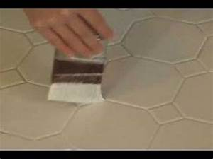 Painting ceramic tile youtube for How to paint ceramic tile floor in bathroom