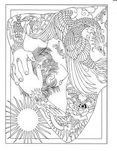 26 Best Body Art Coloring Pages images | Coloring pages