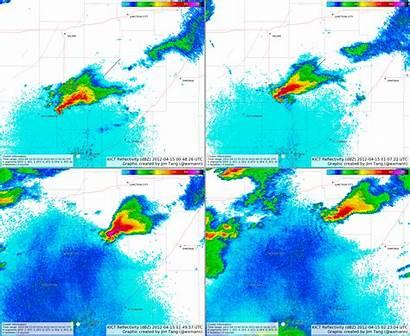 Tornado Radar Outbreak Tornadoes April Decay Stages