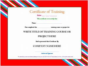 Templates Agenda Training Certificate Template Microsoft Word Templates