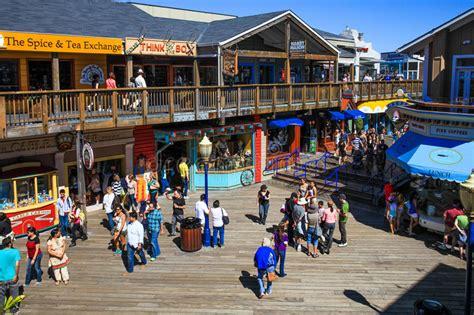 San Francisco Pier 39 Food, Shops, Fun Editorial Photo