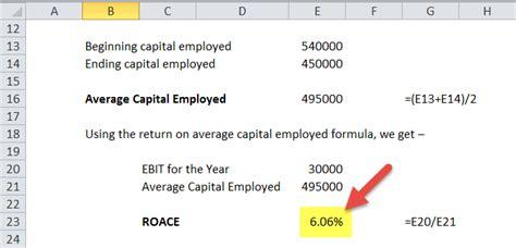 return  average capital employed formula roace calculator