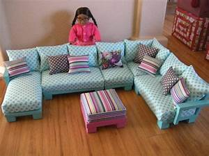 Doll couch chairs living room furniture sectional for for 18 inch doll living room furniture
