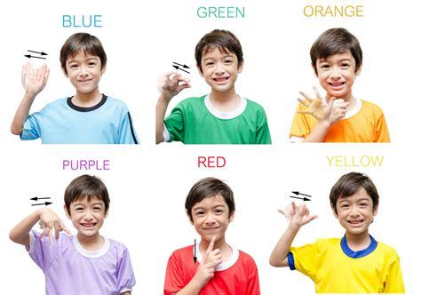 color sign language sign language color creative corner child care